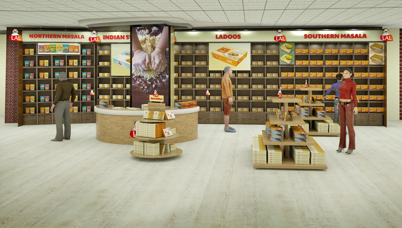 Shop interior for Lal sweeet
