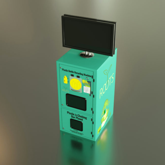 3D modelling of vending maching