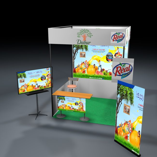 3D modelling of exhibition